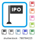 ipo rectangle flag icon. flat...