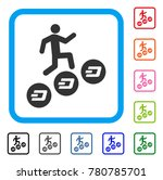 man climb dash coins icon. flat ... | Shutterstock .eps vector #780785701