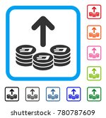 spend dash coins icon. flat... | Shutterstock .eps vector #780787609