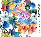 flower composition pattern in a ... | Shutterstock . vector #780790081