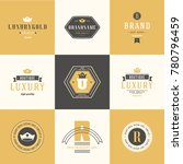 retro vintage logotypes set.... | Shutterstock .eps vector #780796459