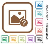 unknown image simple icons in... | Shutterstock .eps vector #780796939