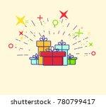 gift box icon. gift symbol.... | Shutterstock .eps vector #780799417