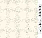 seamless pastel pattern with... | Shutterstock .eps vector #780808507