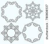 set of circular blue pattern or ... | Shutterstock .eps vector #780808537