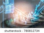 stock market or forex trading... | Shutterstock . vector #780812734