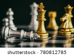 the king in battle chess game... | Shutterstock . vector #780812785