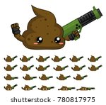 animated turd character for... | Shutterstock .eps vector #780817975