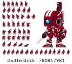 animated robot character for... | Shutterstock .eps vector #780817981