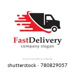 fast delivery logo template... | Shutterstock .eps vector #780829057