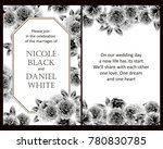 invitation with floral... | Shutterstock .eps vector #780830785