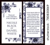 invitation with floral... | Shutterstock .eps vector #780830869
