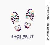 shoe print logo. color shoe... | Shutterstock .eps vector #780838114