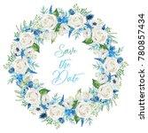 watercolor floral illustration  ... | Shutterstock . vector #780857434