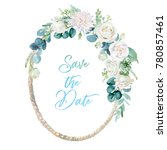 watercolor floral illustration  ...   Shutterstock . vector #780857461
