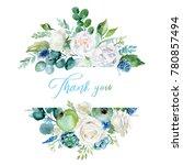 watercolor floral illustration  ... | Shutterstock . vector #780857494