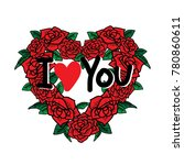 valentine's day greeting card. | Shutterstock .eps vector #780860611