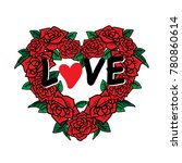valentine's day greeting card. | Shutterstock .eps vector #780860614
