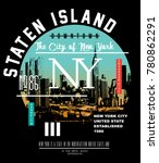 typography with new york city... | Shutterstock .eps vector #780862291
