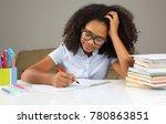 dark skinned schoolgirl with... | Shutterstock . vector #780863851