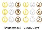 wreath frame ranking... | Shutterstock .eps vector #780870595