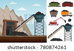 coal mining industry and... | Shutterstock .eps vector #780874261