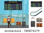airport and transportation... | Shutterstock .eps vector #780874279