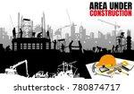 construction vector background... | Shutterstock .eps vector #780874717