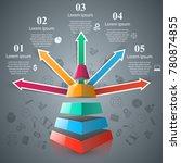 business infographics origami...   Shutterstock .eps vector #780874855