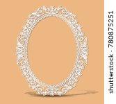 carved vintage frame made of... | Shutterstock .eps vector #780875251