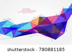 irregular shape of dots  lines... | Shutterstock .eps vector #780881185