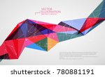irregular shape of dots  lines... | Shutterstock .eps vector #780881191