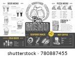 vintage beer menu design.... | Shutterstock .eps vector #780887455