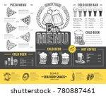 vintage beer menu design.... | Shutterstock .eps vector #780887461