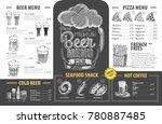 vintage beer menu design.... | Shutterstock .eps vector #780887485