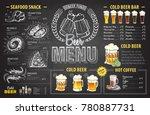 vintage chalk drawing beer menu ... | Shutterstock .eps vector #780887731