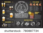 vintage chalk drawing beer menu ... | Shutterstock .eps vector #780887734