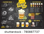 vintage chalk drawing beer menu ... | Shutterstock .eps vector #780887737
