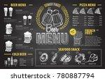 vintage chalk drawing beer menu ... | Shutterstock .eps vector #780887794