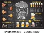 vintage chalk drawing beer menu ... | Shutterstock .eps vector #780887809