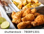 delicious chicken wings in... | Shutterstock . vector #780891301