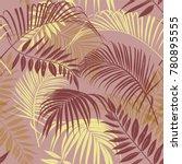 tropical vector seamless... | Shutterstock .eps vector #780895555