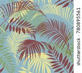 tropical vector seamless... | Shutterstock .eps vector #780895561