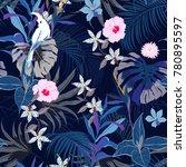 vector seamless beautiful... | Shutterstock .eps vector #780895597