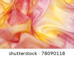 Silk Background In Yellow And...