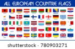european flags set | Shutterstock .eps vector #780903271