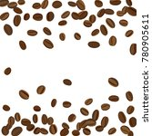 background with coffee beans... | Shutterstock .eps vector #780905611