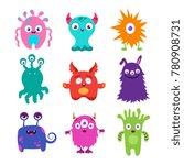 cute cartoon baby monsters... | Shutterstock .eps vector #780908731
