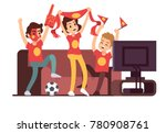 soccer fans and friends... | Shutterstock .eps vector #780908761