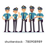 Group Of Police Officers. Woma...